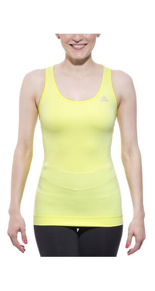 adidas Techfit hardloopshirt Dames Tank geel